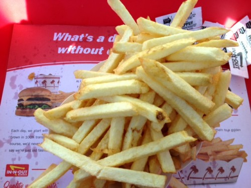 Salt-Free In N' Out Fries