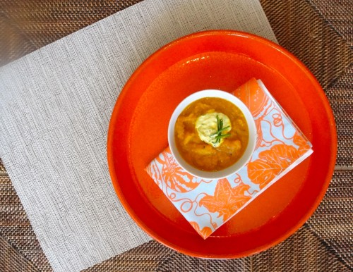 Colorful Low-Sodium Carrot Soup