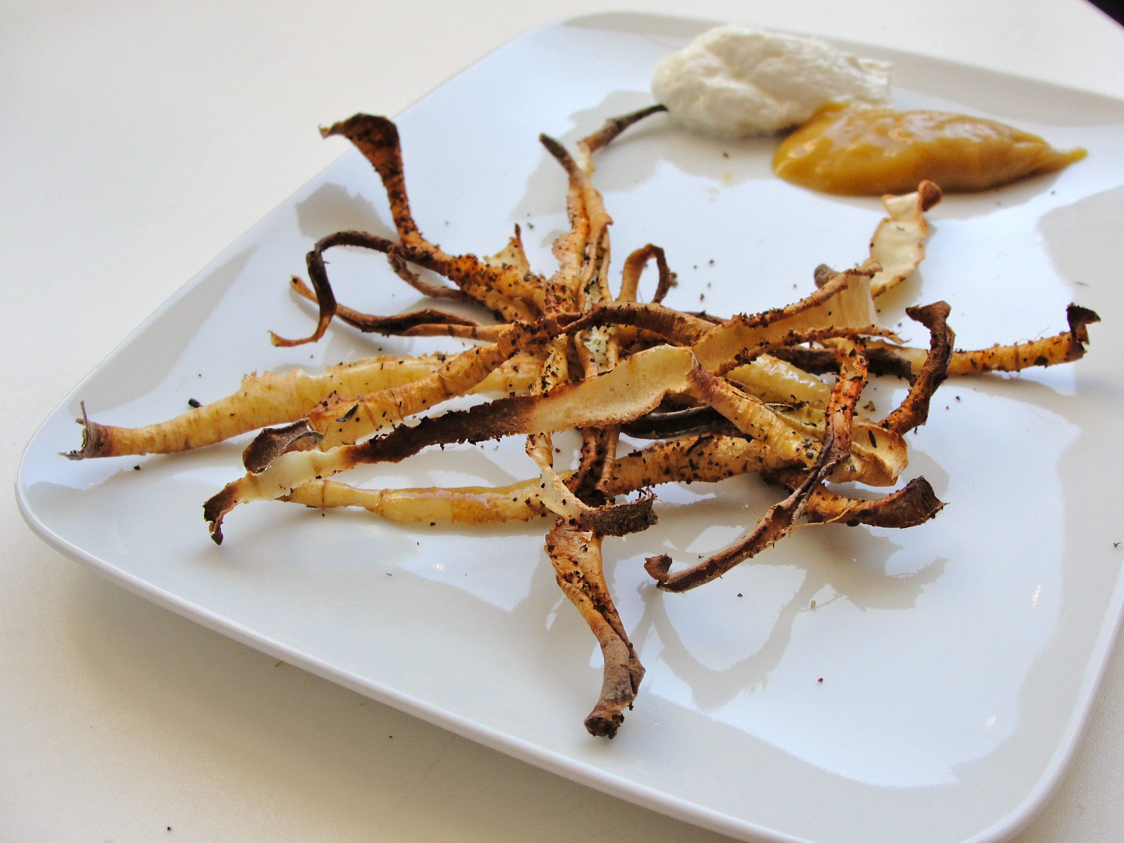 """Roasted Parsnip """"Fries"""" With Curry Salt Recipe — Dishmaps"""