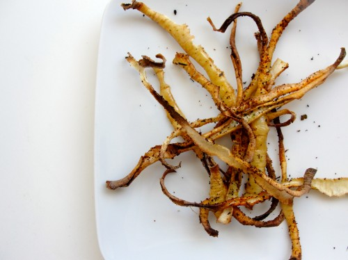 Low-Sodium Low-Potassium Parsnip Peel Fries