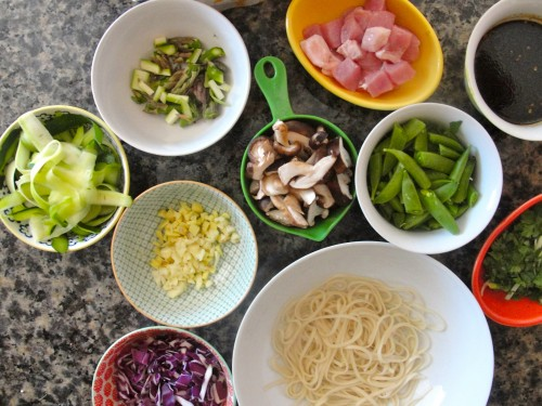Low-Sodium Lo Mein Ingredients