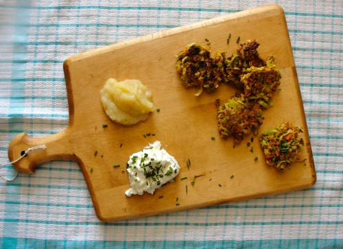 Low-Sodium Leek Carrot Parsnip Latkes