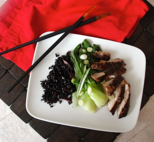 Low-Sodium Sesame Chicken and Bok Choy