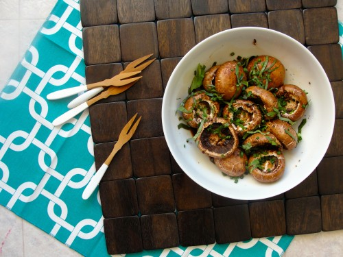 Salt-Free Low-Sodium BalsamicMarinated Mushrooms