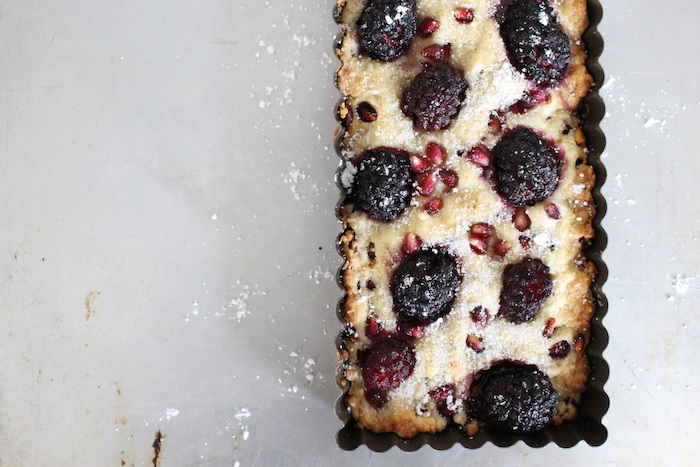 Pomegranate Blackberry Short Tart Baked