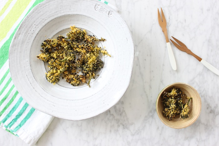 Crunchy Cornmeal Broccoli