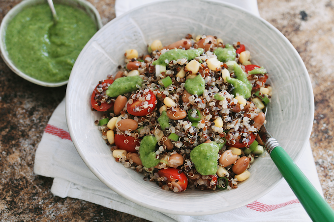 Quinoa bowls with avocado everything dressing3